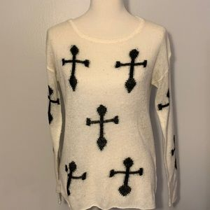 Lumiere sweater with cross detail Size L